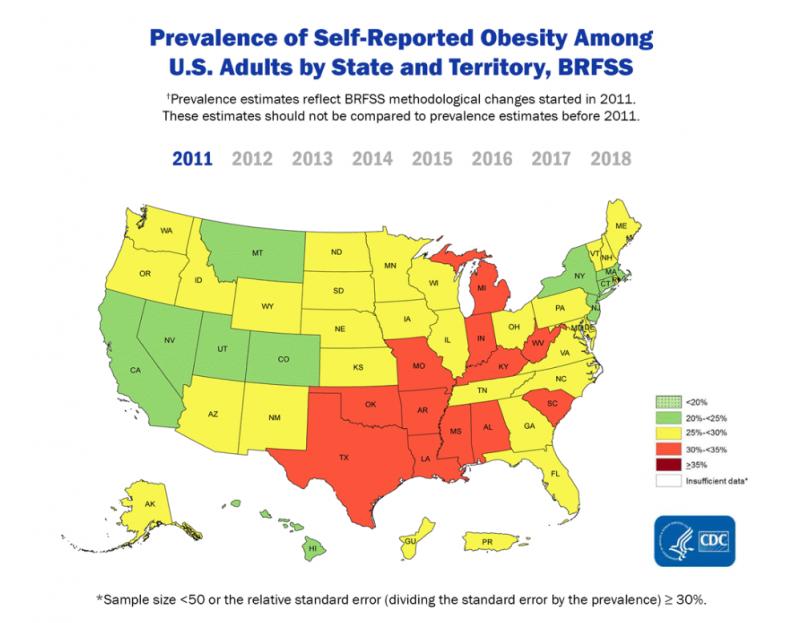 obesity rates us 2011