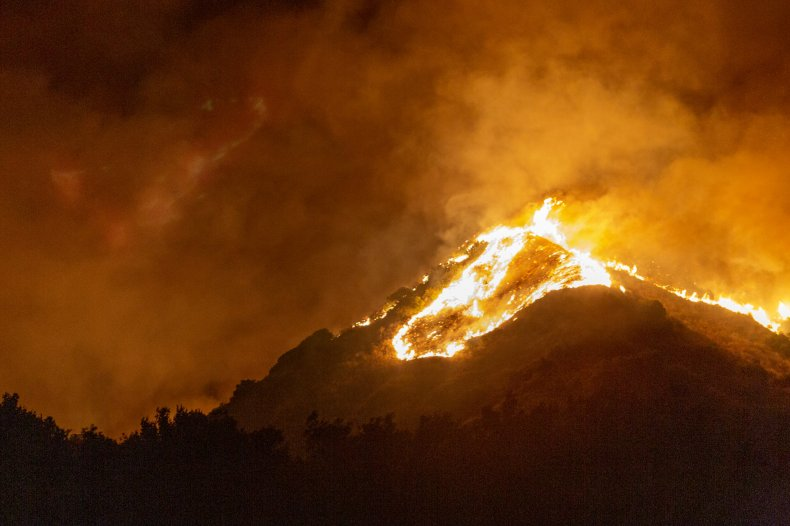 The Maria Fire in California November 2019