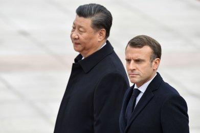 Emmanuel Macron, Xi Jinping, climate change, Paris