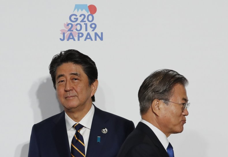 japan abe south korea moon g20