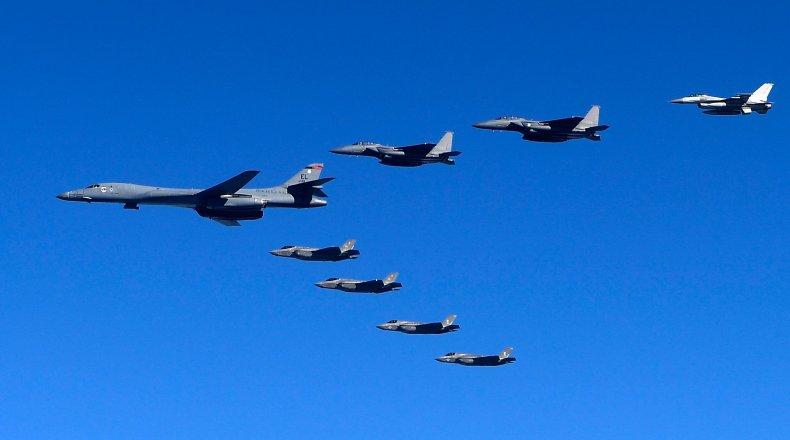 North Korea, South Korea, US, military drill