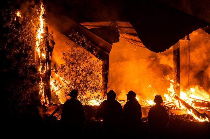 Kincade Fire October 29, 2019 inHealdsburg, California