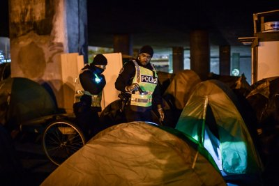 Paris migrant tents