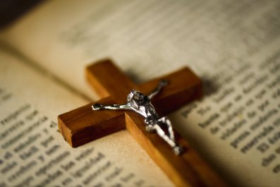 crucifix, bible