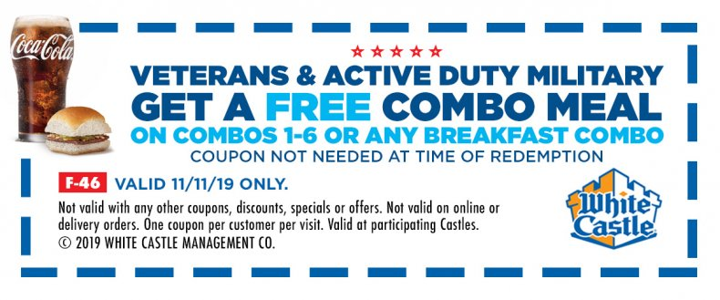 veterans day white castle