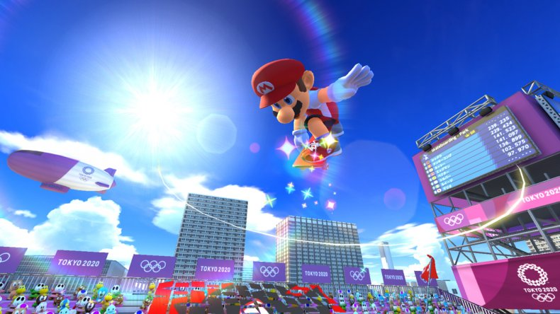 Mario and Sonic Olympic Games Tokyo Skateboarding