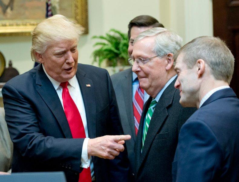 Trump With Republican Lawmakers