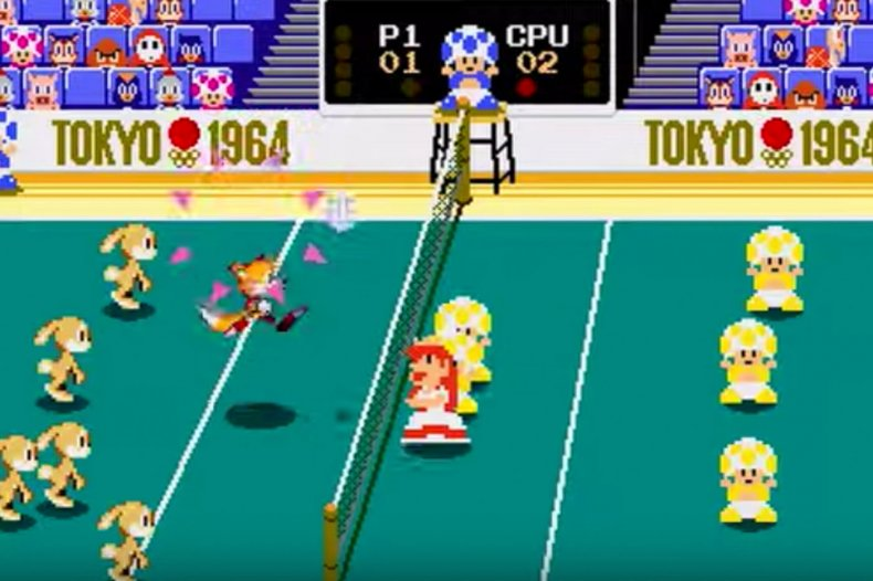 Mario and Sonic Olympic Games Tokyo Volleyball