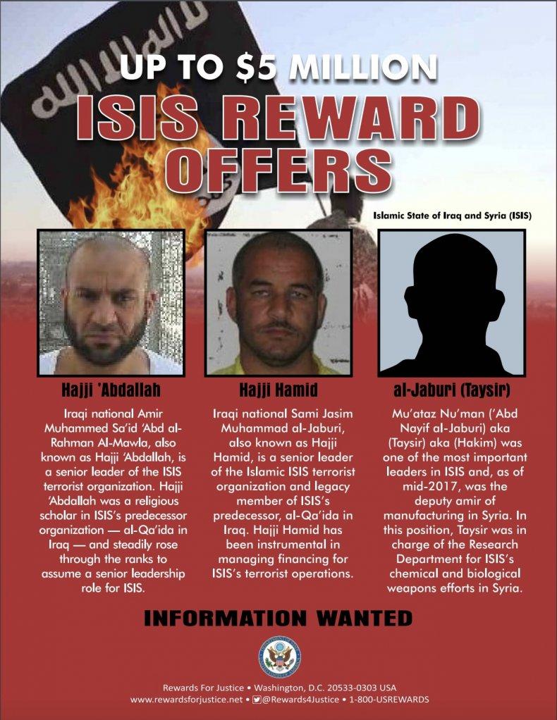 hajji abdullah mawla isis reward poster
