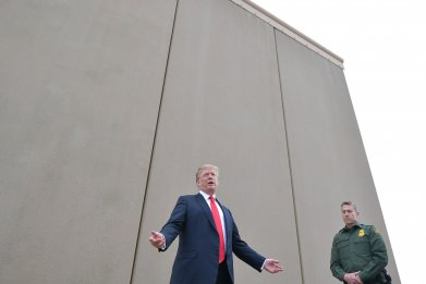 border wall, president donald trump