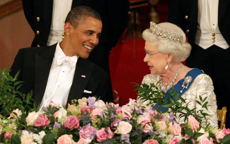 Obama and Elizabeth II