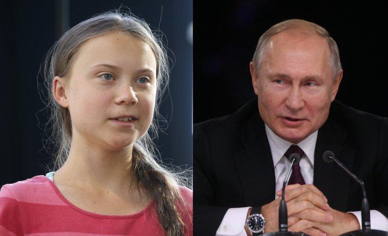 Greta Thunberg Vladimir Putin