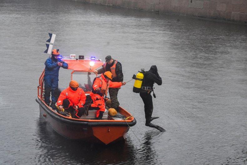 Rescue Moika river