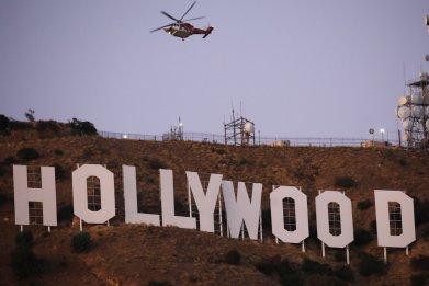 Barham Fire Burns Near Hollywood Sign