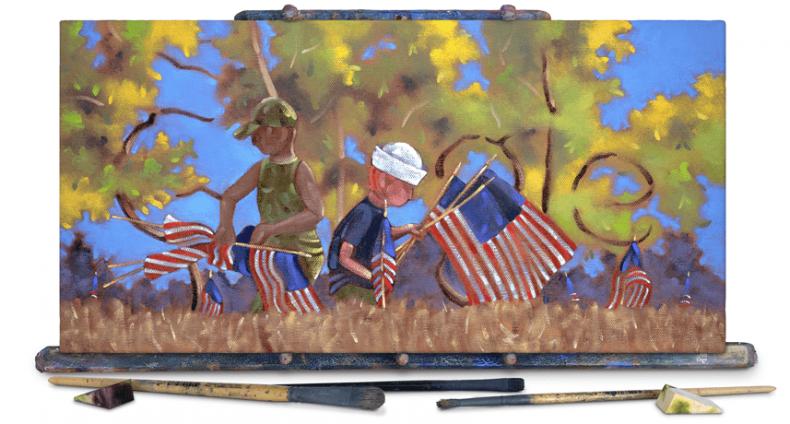google doodle veterans day