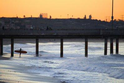 Venice Beach California surfer Pacific Ocean 2017