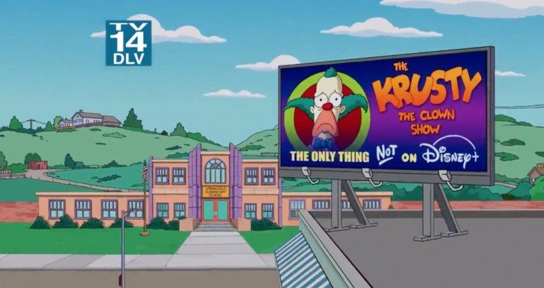 'The Simpsons' Disney+ joke