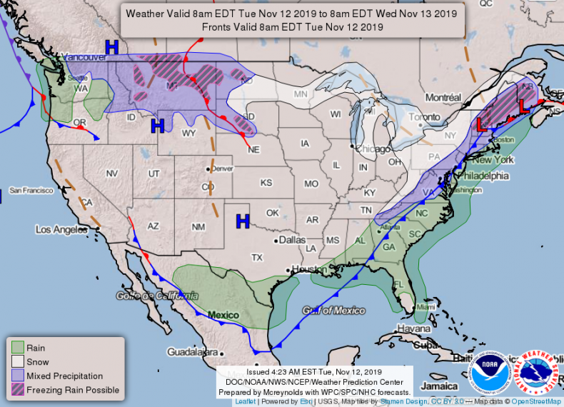 NOAA WEATHER forecast November 12 2019