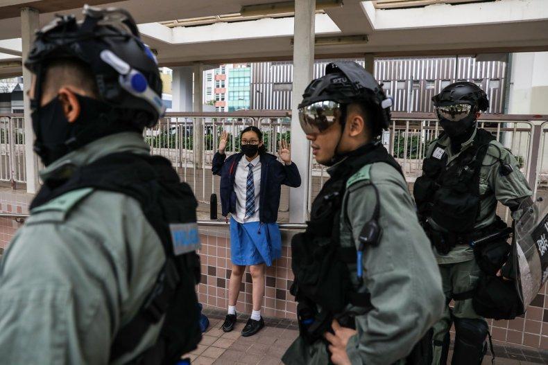 Hong Kong, protests, students, mental health, police