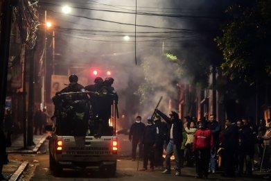 bolivia evo morales resign protests police