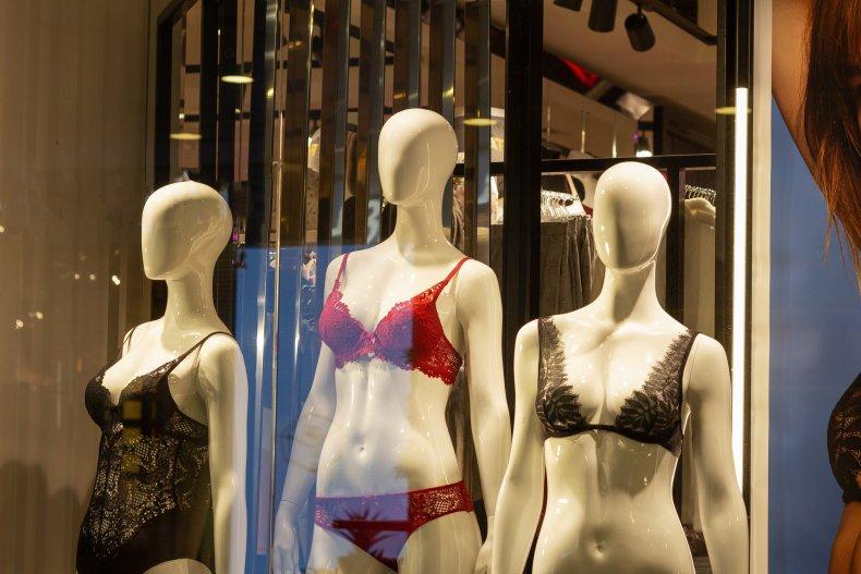 Mannequins in lingerie