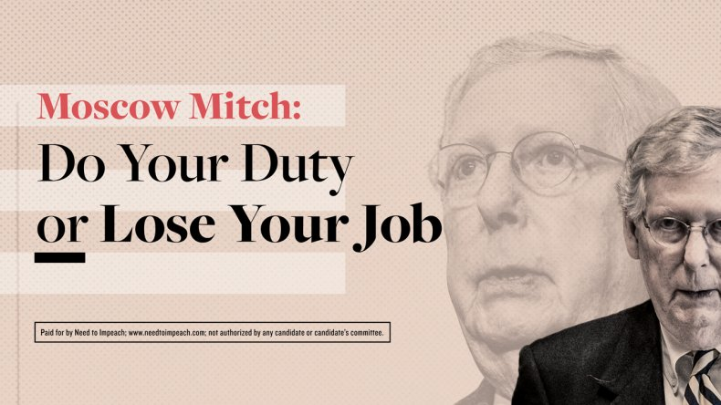 Impeach Trump Billboard Mitch McConnell