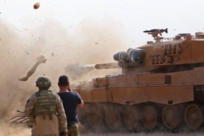 Syria, Turkey, Tank, SDF, fighting