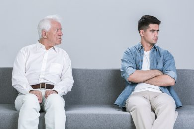 Grandfather grandson intergenerational conflict