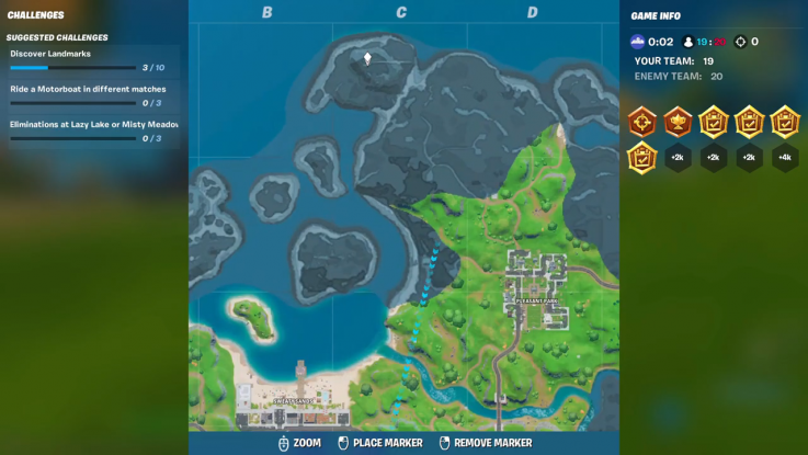 fortnite landmark location 1