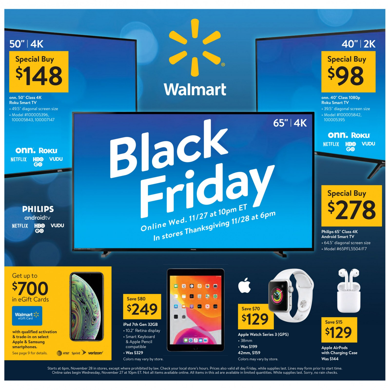 Walmart Black Friday Ad 2019 Deals On Apple Watch Series 3