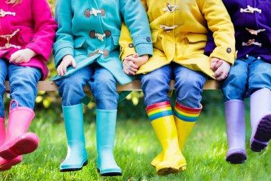 children, kids, rain, stock, getty