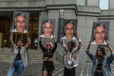 Epstein protest