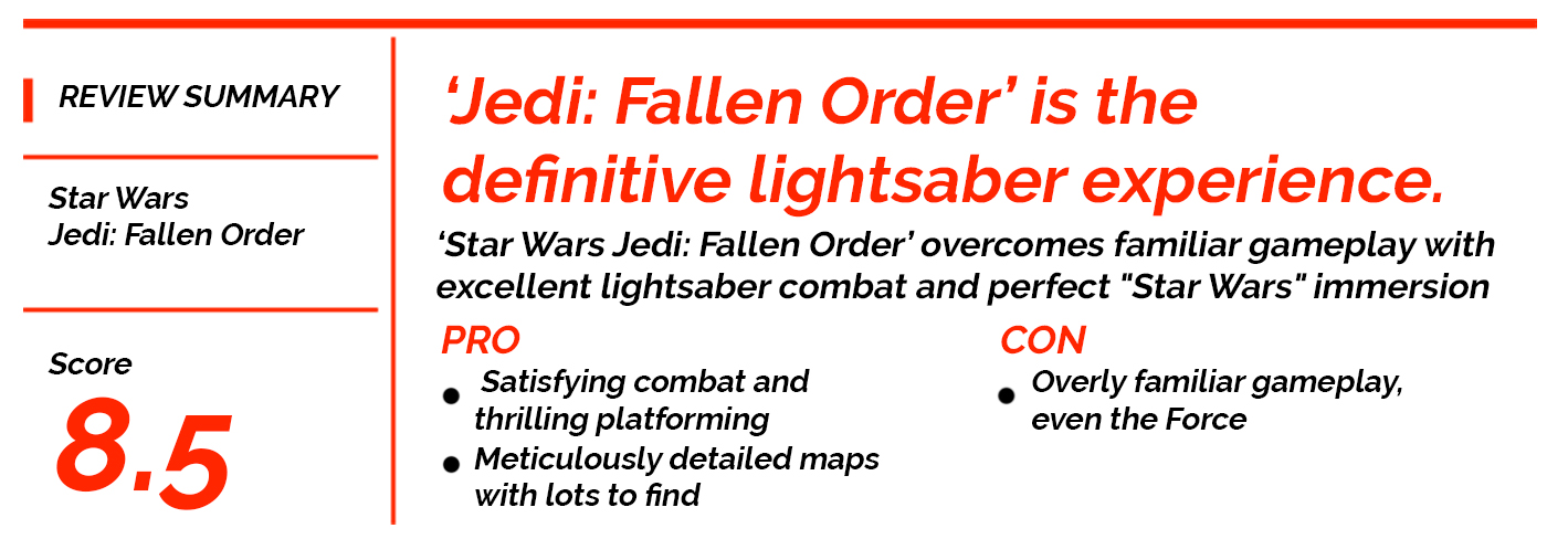 'Star Wars Jedi: Fallen Order' Review: Perfect Immersion and Lightsaber Combat Overpowers Familiar Gameplay