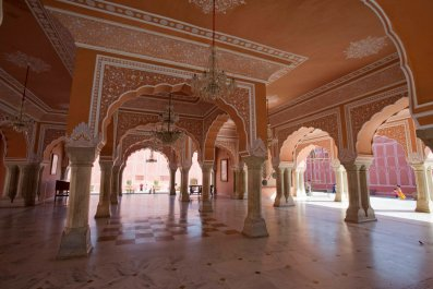 Diwan-i-Khas building at City Palace of Jaipur