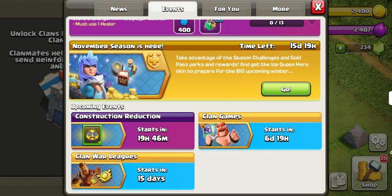 clash clans construction reduction event