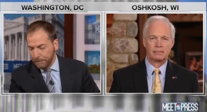 "GOP Senator Ron Johnson said the Ukraine scandal should have been settled ""behind the scenes"""