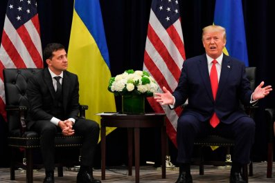 Volodymyr Zelenskiy and Donald Trump