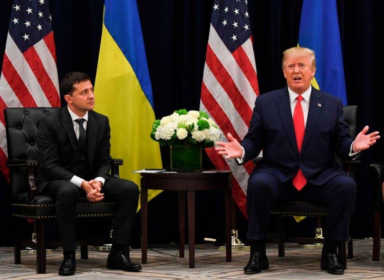 Volodymyr Zelenskiy and Donald Trump