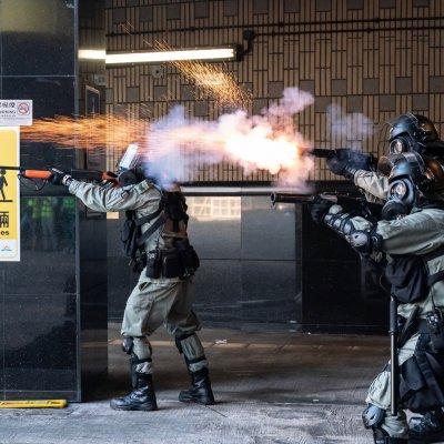 Hong Kong, police, tear gas, polytechnic university