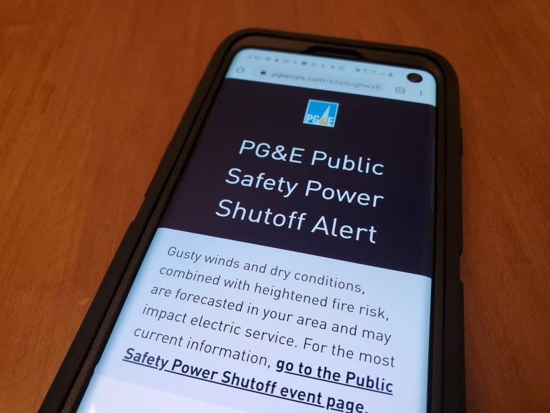 pge power outage shutdown