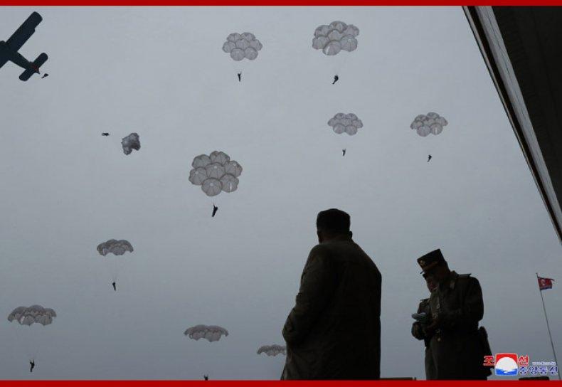 north korea kim jong un air drills