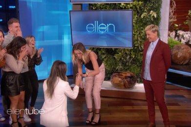 Ellen DeGeneres surprises lesbian couple