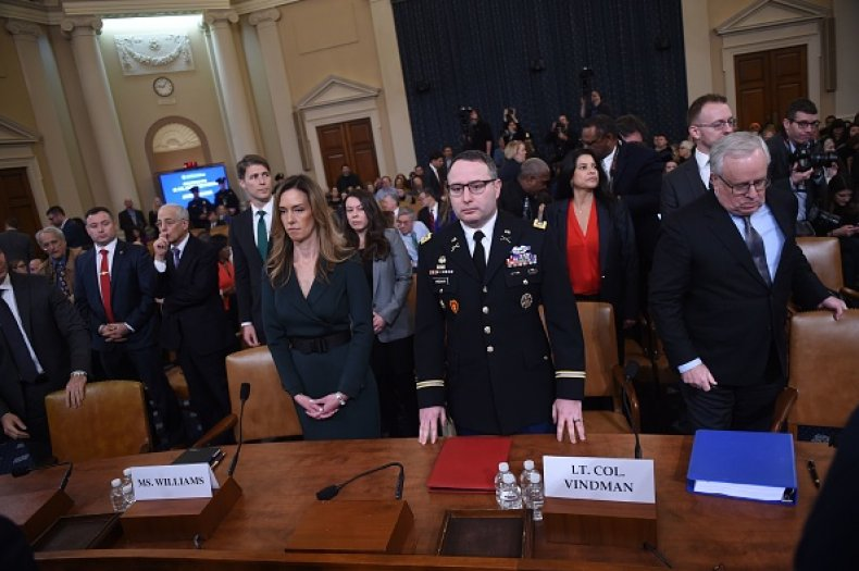vindman williams testimony trump impeachment hearing