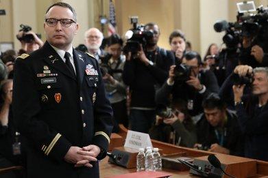 alexander vindman public testimony trump impeachment hearing