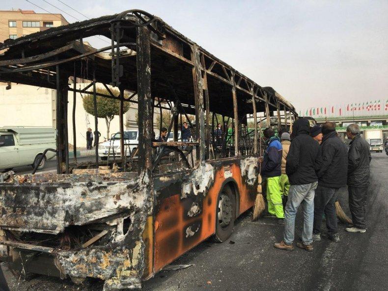iran protests tehran sanctions