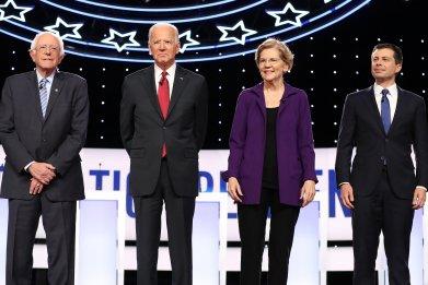 Bernie Sanders Joe Biden Elizabeth Warren