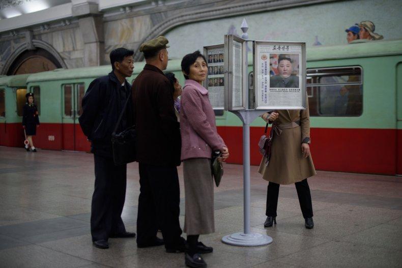 kim jong un north korea newspaper subway