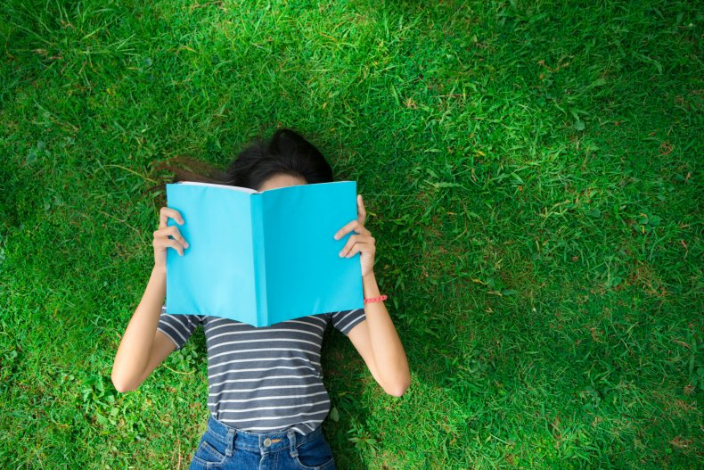 green space, grass, reading, summer, book, getty