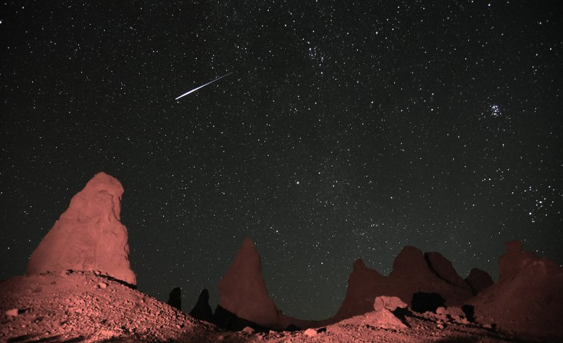 Meteor Shower in Death Valley, CA