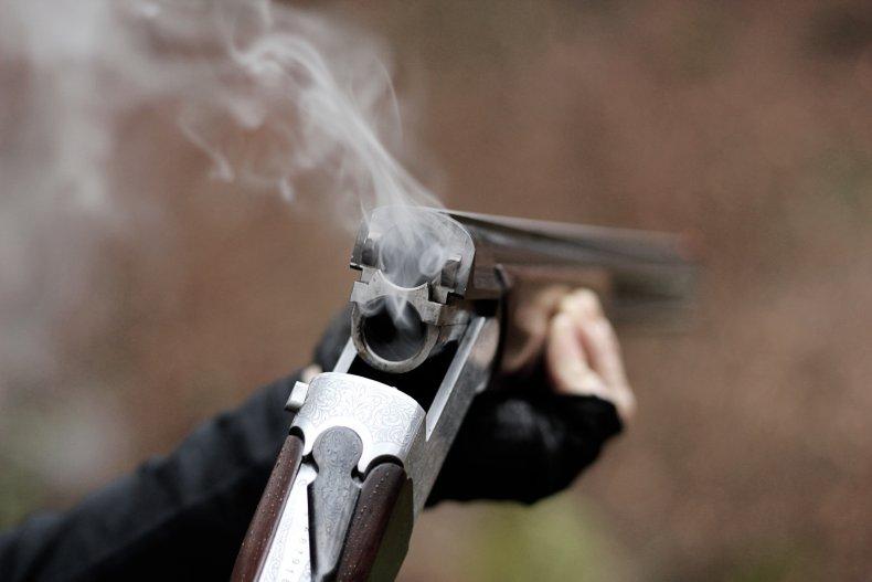 A shotgun that has just been fired